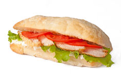 Sandwich with meat and tomato Royalty Free Stock Image
