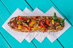 Sandwich with meat and vegetables Royalty Free Stock Image