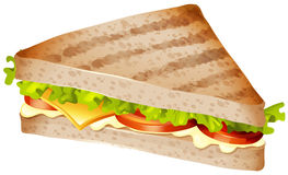 Sandwich with meat and vegetables Royalty Free Stock Photos