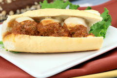 Sandwich with meatballs Stock Photos