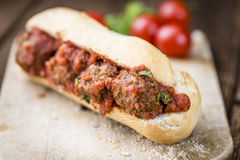 Sandwich with Meatballs Royalty Free Stock Images