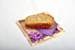 Sandwich met ajvar chutney, Royalty-vrije Stock Afbeeldingen