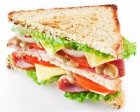 Sandwich met bacon stock foto's