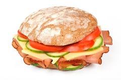 Sandwich met bacon en kaas Stock Afbeelding