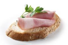 Sandwich met een ham Royalty-vrije Stock Fotografie