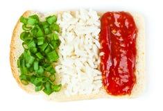 Sandwich met een vlag van Italië Stock Foto