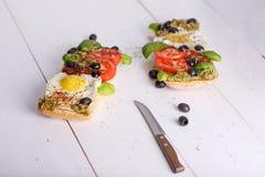 Sandwich met eieren Royalty-vrije Stock Afbeeldingen