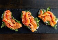 Sandwich met forel royalty-vrije stock foto