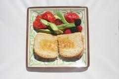 Sandwich met Fruit Stock Afbeelding