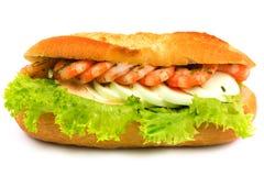 Sandwich met garnalen Stock Foto's