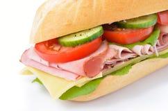 Sandwich met gekookte ham Royalty-vrije Stock Afbeeldingen