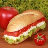 Sandwich met gerookte zalm Royalty-vrije Stock Foto's
