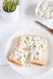 Sandwich met goatcheese Royalty-vrije Stock Fotografie