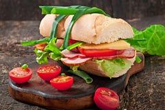 Sandwich met ham Stock Fotografie