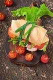Sandwich met ham Stock Foto