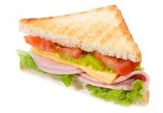 Sandwich met ham en groenten stock foto