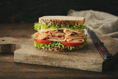Sandwich met ham en groenten royalty-vrije stock foto's