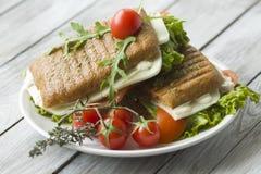 Sandwich met ham en tomaten Royalty-vrije Stock Foto