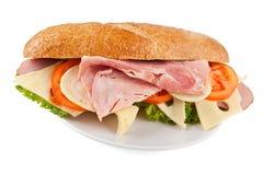 Sandwich met ham, kaas en tomaat royalty-vrije stock foto