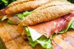 Sandwich met hambocadillo Stock Fotografie