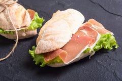 Sandwich met hamon royalty-vrije stock foto