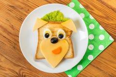 Sandwich met kaas en kwartelseieren Royalty-vrije Stock Afbeeldingen