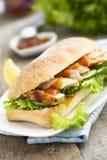 Sandwich met kip Royalty-vrije Stock Afbeeldingen