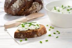 Sandwich met roomkaas Stock Afbeeldingen