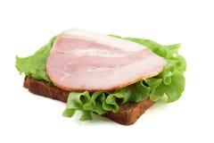 Sandwich met sla en ham Stock Afbeeldingen