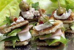 Sandwich met toost en ham royalty-vrije stock fotografie
