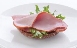 Sandwich met varkensvleeslendestuk Stock Foto's