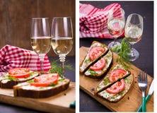 Sandwich met wijnstok Stock Foto's