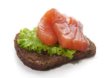 Sandwich met zalm Royalty-vrije Stock Foto's