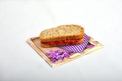 Sandwich mit dem Chutney, ajvar Stockfotos