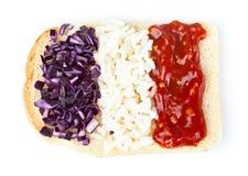 Sandwich mit einer Markierungsfahne des Frankreichs Lizenzfreies Stockfoto