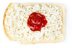 Sandwich mit einer Markierungsfahne des Japans Lizenzfreie Stockbilder