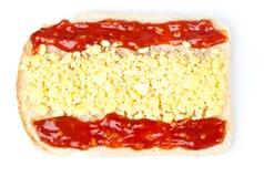 Sandwich mit einer Markierungsfahne des Spaniens Lizenzfreies Stockbild