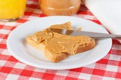 Sandwich mit Erdnussbutter Stockfotografie