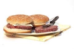 Sandwich mit Fleisch Lizenzfreie Stockbilder