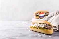Sandwich mit Heringen Lizenzfreies Stockbild