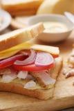 Sandwich mit Huhn. Lizenzfreies Stockfoto