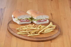 Sandwich mit Kartoffel Lizenzfreie Stockfotos