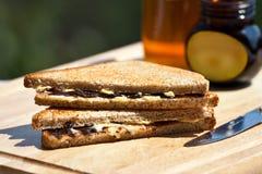 Sandwich mit Marmite Lizenzfreie Stockbilder