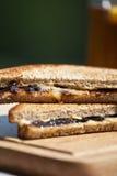 Sandwich mit Marmite Stockbild