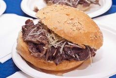 Sandwich mit Milz Stockfoto