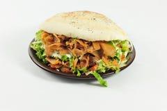Sandwich mit Rindfleisch und Huhn Stockbild