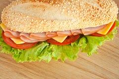 Sandwich mit Schinken Stockbild
