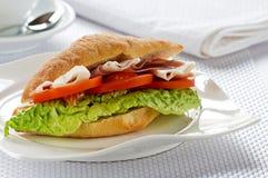 Sandwich mit Schinken Lizenzfreies Stockbild