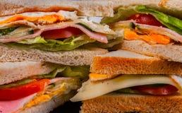 Sandwiche schließen herauf Foto Stockfoto