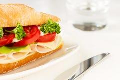Sandwich mit Schinken und Käse Stockbilder